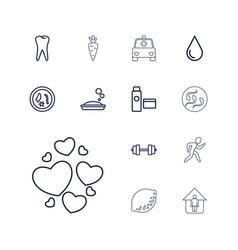 13 health icons vector