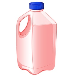 A gallon of strawberry milk vector