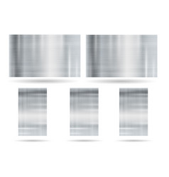 abstract metallic frame on white background vector image