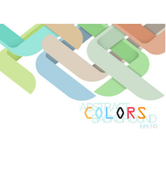 Abstract shape colors modern style vector