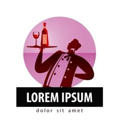 Alcohol logo design template bottle vector