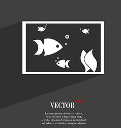 Aquarium Fish in water icon symbol Flat modern web vector