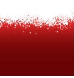 Background with white stars flakes on red pattern vector