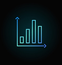 Bar chart colorful icon vector