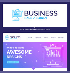 Beautiful business concept brand name dashboard vector