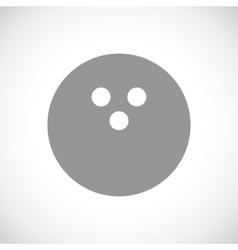 Bowling black icon vector