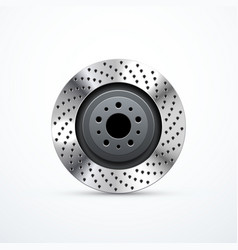 Brake disc isolated vector