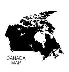 Canada map and country name isolated on white vector