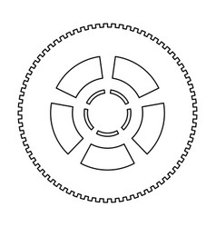 Car wheel the black color icon vector