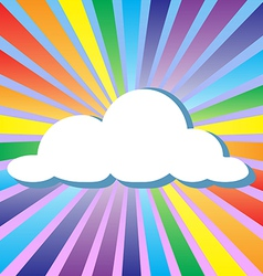 Colorful cloud and rainbow vector image