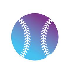contour ball to play baseball sport vector image