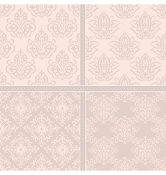 Creamy light seamless pattern vector image
