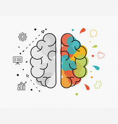 Creative and business ideas concept of human brain vector