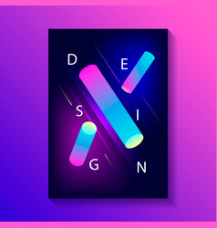 creative design poster vector image