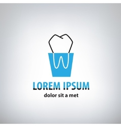Dental Medicine logo design template vector