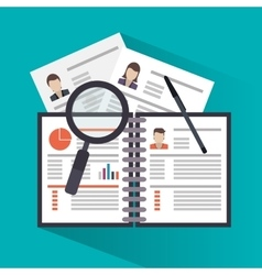 Document of human resources concept vector