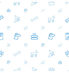 Dog icons pattern seamless white background vector
