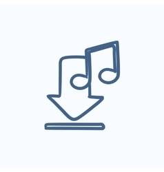 Download music sketch icon vector image
