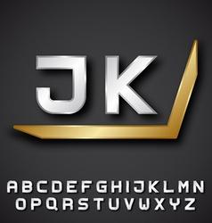 EPS10 silver golden alphabet initials vector