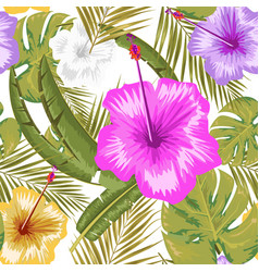 Exotic abstract jungle or tropical leaf and vector