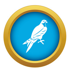 falcon icon blue isolated vector image