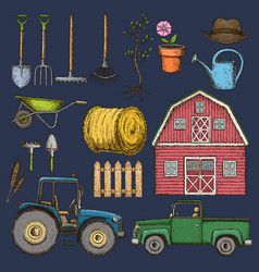 farming agricultural instruments vector image
