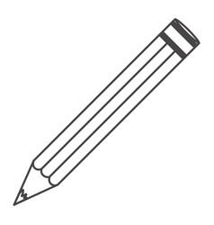 Figure pencil school icon vector