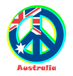 Flag of australia as a sign of pacifism vector