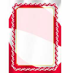 Frame and border of ribbon with greenland flag vector