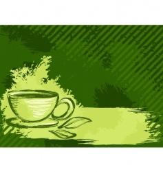 grunge tea background vector image