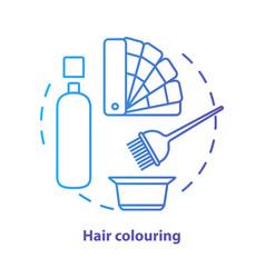 Hair colouring blue concept icon vector