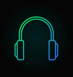 headphones colored icon headphone concept vector image