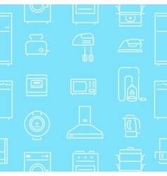 House Appliances Lines Seamless Pattern vector image