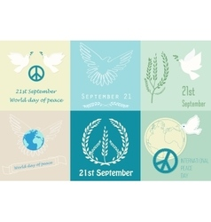 International Day of Peace design symbols Poster vector image