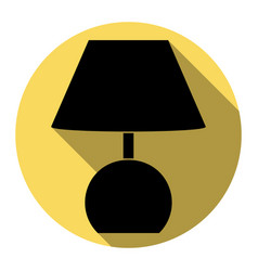 Lamp sign flat black icon vector