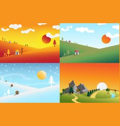 Landscape set1 vector