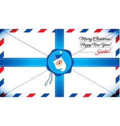 mail template of santa claus vector image
