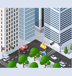 megapolis city quarter vector image