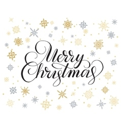 Merry christmas hand drawn lettering vector