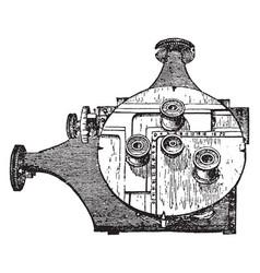micrometer vintage vector image