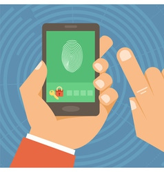 mobile phone security vector image
