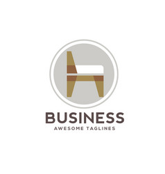 modern chair furniture logo vector image