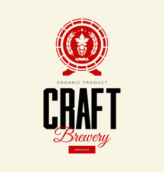 modern craft beer drink isolated logo vector image