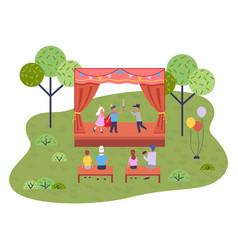 musical concert in garden children s vector image