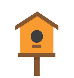 nesting bird box vector image
