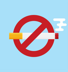 no smoking icon flat design icon vector image
