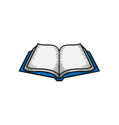 open book hand drawn icon isolated vector image
