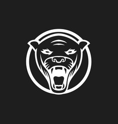 Panther logo mascot design sport isol vector