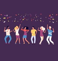 party dancers happy young persons dance vector image