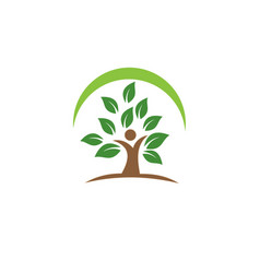 people leaf logo vector image